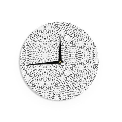 "Laura Nicholson ""Letter Of Advice "" Black White Wall Clock - KESS InHouse"