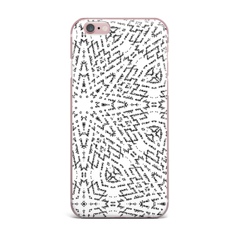 "Laura Nicholson ""Letter Of Advice "" Black White iPhone Case - KESS InHouse"