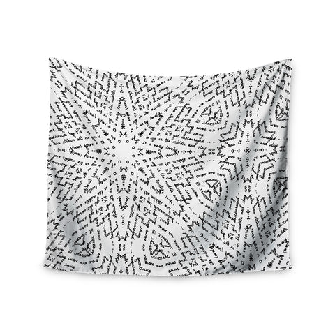 "Laura Nicholson ""Letter Of Advice "" Black White Wall Tapestry - KESS InHouse  - 1"