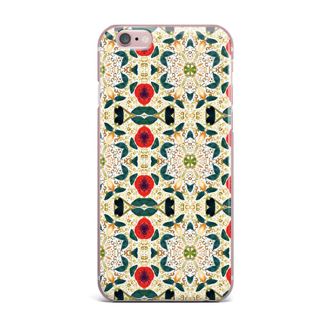 "Laura Nicholson ""Persimmons And Peaches"" Red Abstract iPhone Case - KESS InHouse"