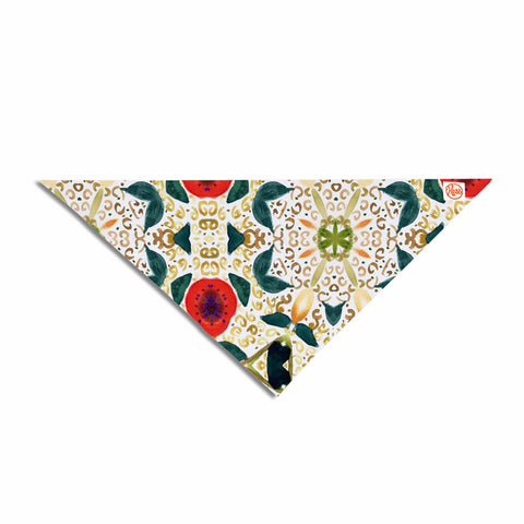 "Laura Nicholson ""Persimmons And Peaches"" Red Abstract Pet Bandana - KESS InHouse  - 1"