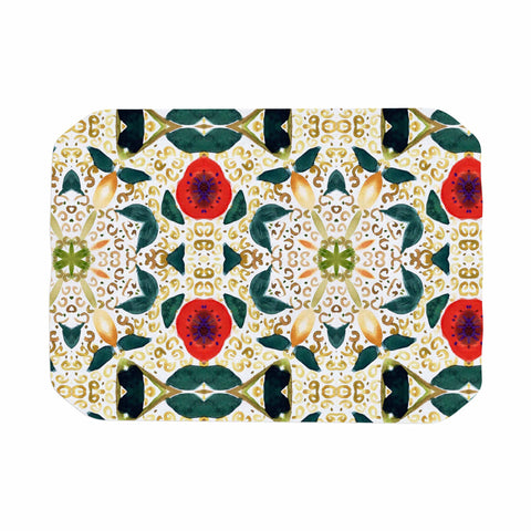 "Laura Nicholson ""Persimmons And Peaches"" Red Abstract Place Mat - KESS InHouse"