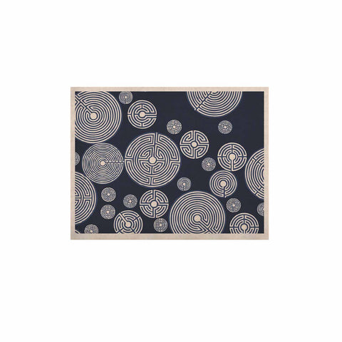 "Laura Nicholson ""Indigo Labyrinths"" Blue White KESS Naturals Canvas (Frame not Included) - KESS InHouse  - 1"