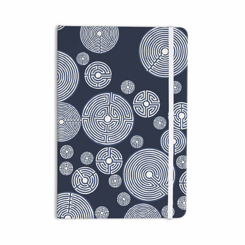 "Laura Nicholson ""Indigo Labyrinths"" Blue White Everything Notebook - KESS InHouse  - 1"