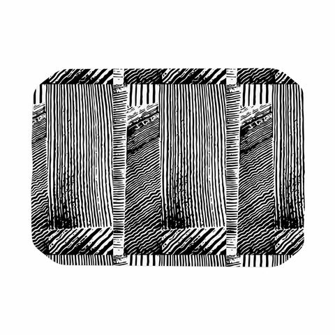 "Laura Nicholson ""Wood Blox"" Black White Illustration Place Mat"