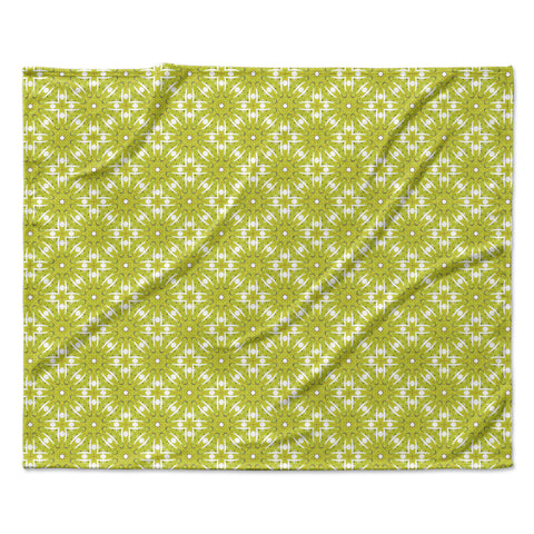 "Laura Nicholson ""Maple Leaves Geometric"" Green Nature Photography Illustration Fleece Throw Blanket"
