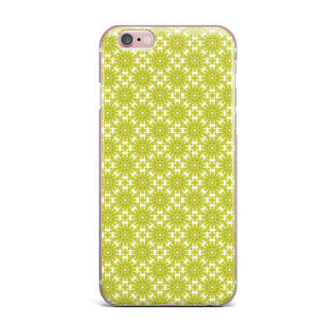 "Laura Nicholson ""Maple Leaves Geometric"" Green Nature Photography Illustration iPhone Case"
