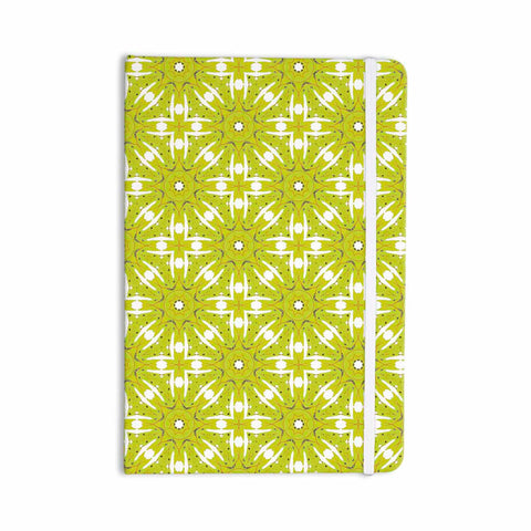 "Laura Nicholson ""Maple Leaves Geometric"" Green Nature Photography Illustration Everything Notebook"