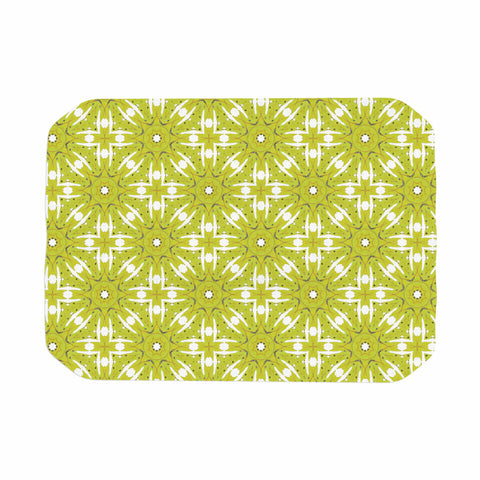 "Laura Nicholson ""Maple Leaves Geometric"" Green Nature Photography Illustration Place Mat"