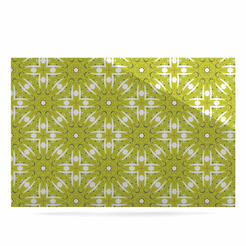 "Laura Nicholson ""Maple Leaves Geometric"" Green Nature Photography Illustration Luxe Rectangle Panel"