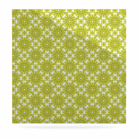 "Laura Nicholson ""Maple Leaves Geometric"" Green Nature Photography Illustration Luxe Square Panel"