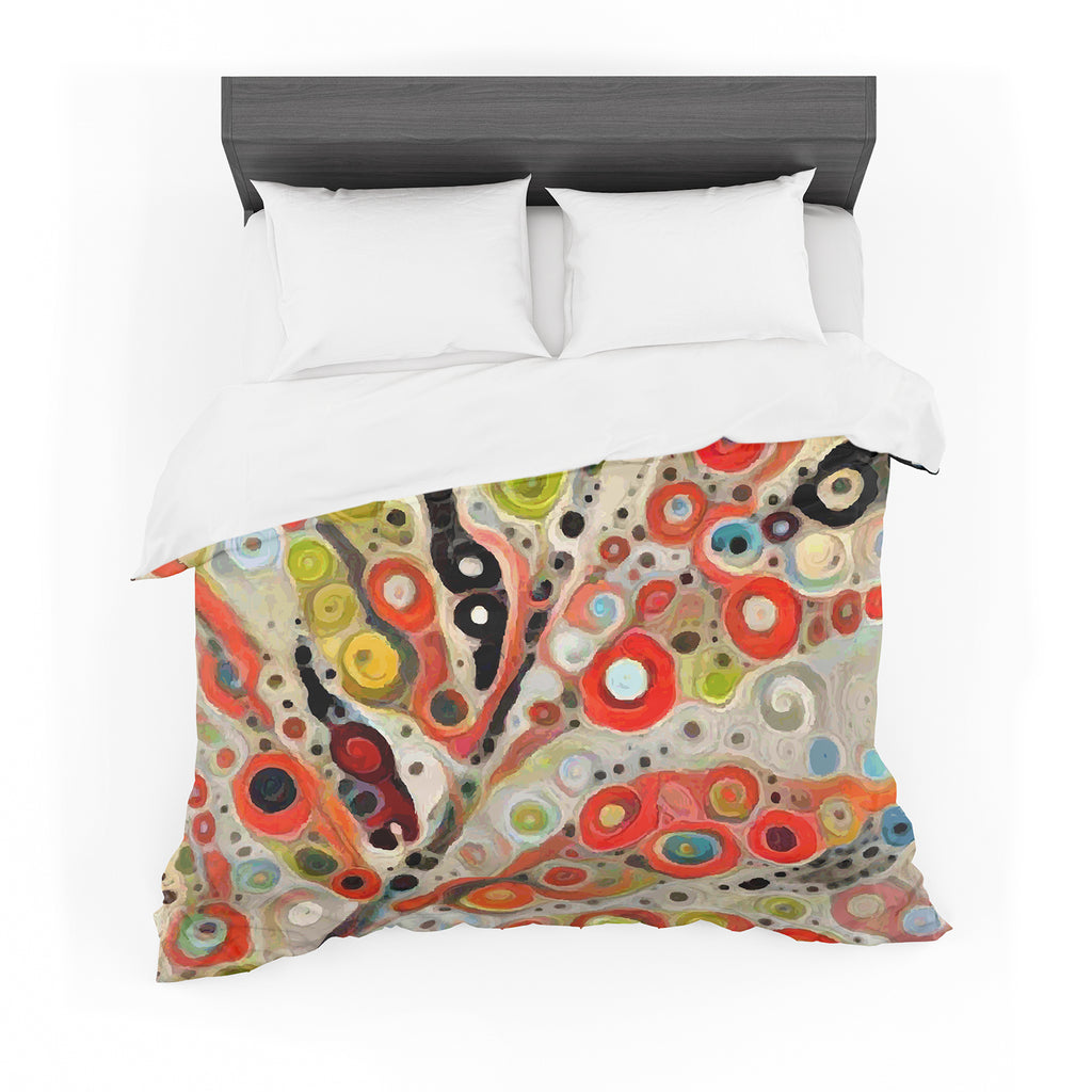 "Laura Nicholson ""Fall Color"" Orange Olive Nature Fantasy Illustration Digital Featherweight Duvet Cover"
