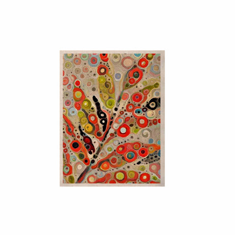 "Laura Nicholson ""Fall Color"" Orange Olive Nature Fantasy Illustration Digital KESS Naturals Canvas (Frame not Included)"