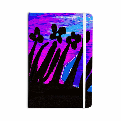 "Laura Nicholson ""Sunset Landscape"" Magenta Black Nature Fantasy Watercolor Illustration Everything Notebook"