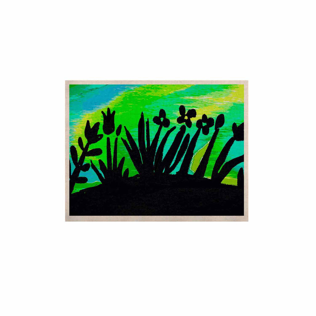 "Laura Nicholson ""Wild Landscape"" Blue Green Nature Fantasy Watercolor Illustration KESS Naturals Canvas (Frame not Included)"