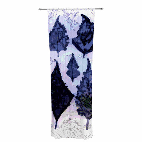 "Laura Nicholson ""Cool Blue Leaves"" Blue Gray Nature Pattern Photography Digital Decorative Sheer Curtain"
