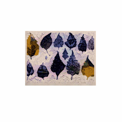 "Laura Nicholson ""Cool Blue Leaves"" Blue Gray Nature Pattern Photography Digital KESS Naturals Canvas (Frame not Included)"