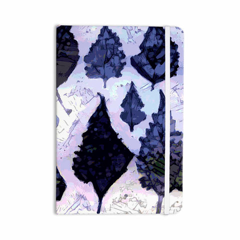 "Laura Nicholson ""Cool Blue Leaves"" Blue Gray Nature Pattern Photography Digital Everything Notebook"