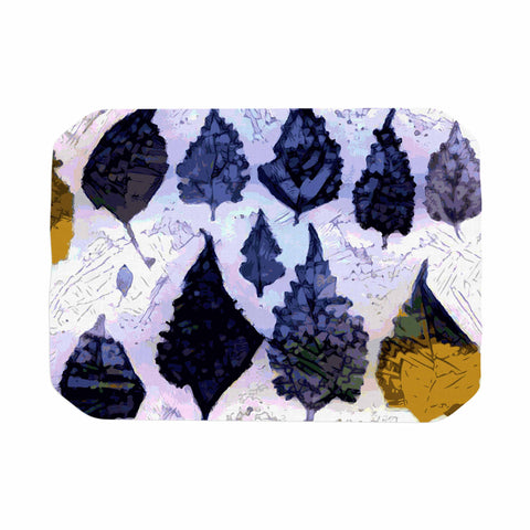 "Laura Nicholson ""Cool Blue Leaves"" Blue Gray Nature Pattern Photography Digital Place Mat"