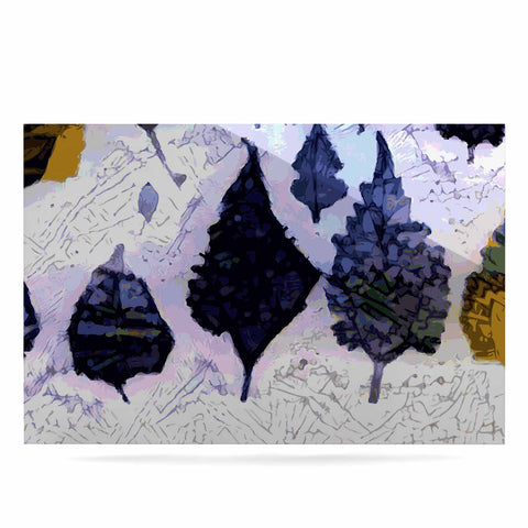 "Laura Nicholson ""Cool Blue Leaves"" Blue Gray Nature Pattern Photography Digital Luxe Rectangle Panel"