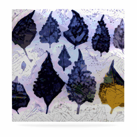 "Laura Nicholson ""Cool Blue Leaves"" Blue Gray Nature Pattern Photography Digital Luxe Square Panel"