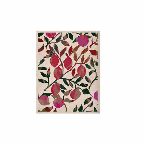 "Laura Nicholson ""Rosy Fruits"" Pink Coral Floral Contemporary Illustration Digital KESS Naturals Canvas (Frame not Included)"