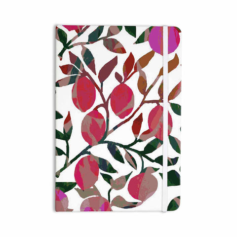 "Laura Nicholson ""Rosy Fruits"" Pink Coral Floral Contemporary Illustration Digital Everything Notebook"
