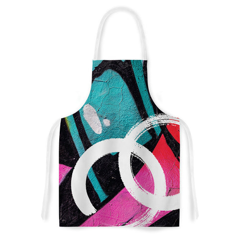 "Just L ""CHANNEL ZERO"" Multicolor Illustration Artistic Apron - Outlet Item"