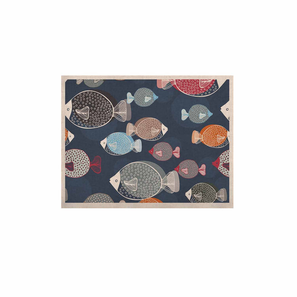 "Melissa Armstrong ""Swim School"" Blue Red KESS Naturals Canvas (Frame not Included) - KESS InHouse  - 1"