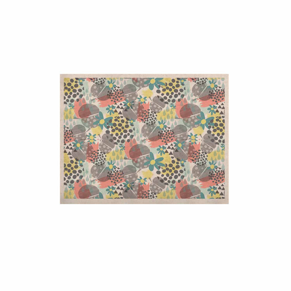 "Melissa Armstrong ""Apples, Drops & Blooms"" Multicolor Pink Digital KESS Naturals Canvas (Frame not Included)"