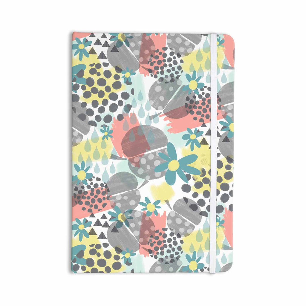 "Melissa Armstrong ""Apples, Drops & Blooms"" Multicolor Pink Digital Everything Notebook - KESS InHouse  - 1"