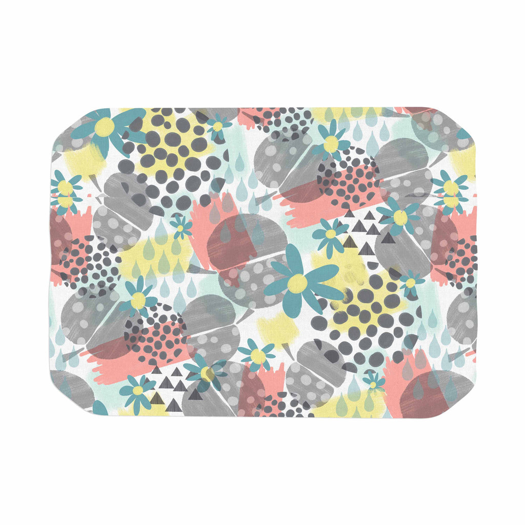 "Melissa Armstrong ""Apples, Drops & Blooms"" Multicolor Pink Digital Place Mat"