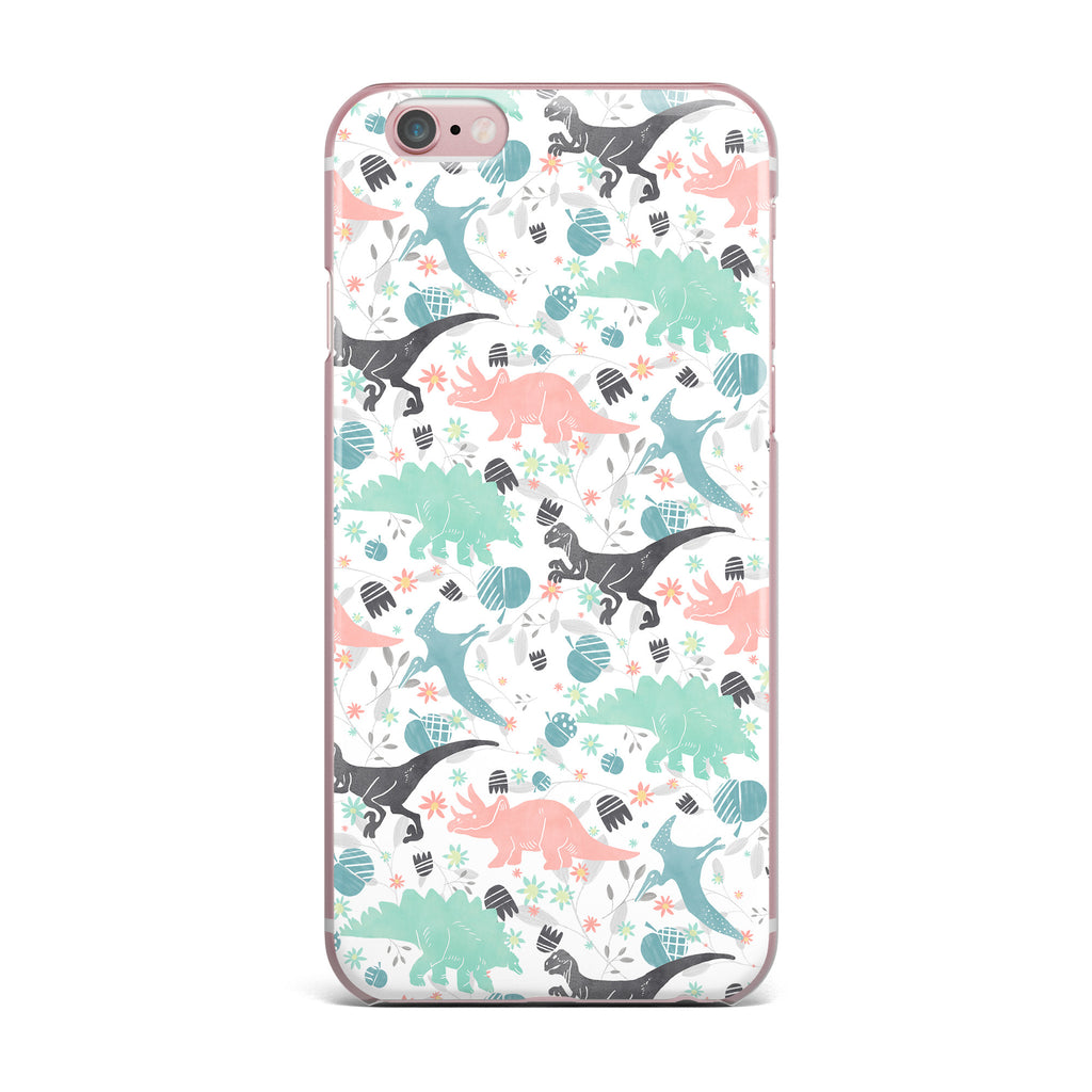 "Melissa Armstrong ""Florasaurus"" Multicolor Pink Digital iPhone Case - KESS InHouse"