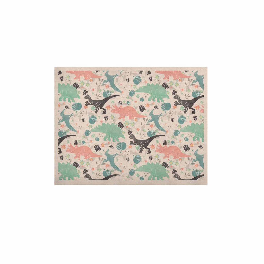 "Melissa Armstrong ""Florasaurus"" Multicolor Pink Digital KESS Naturals Canvas (Frame not Included)"