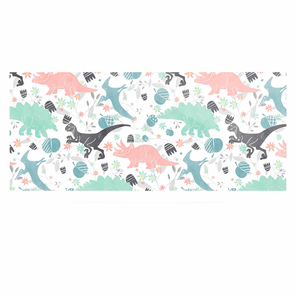 "Melissa Armstrong ""Florasaurus"" Multicolor Pink Digital Luxe Rectangle Panel"