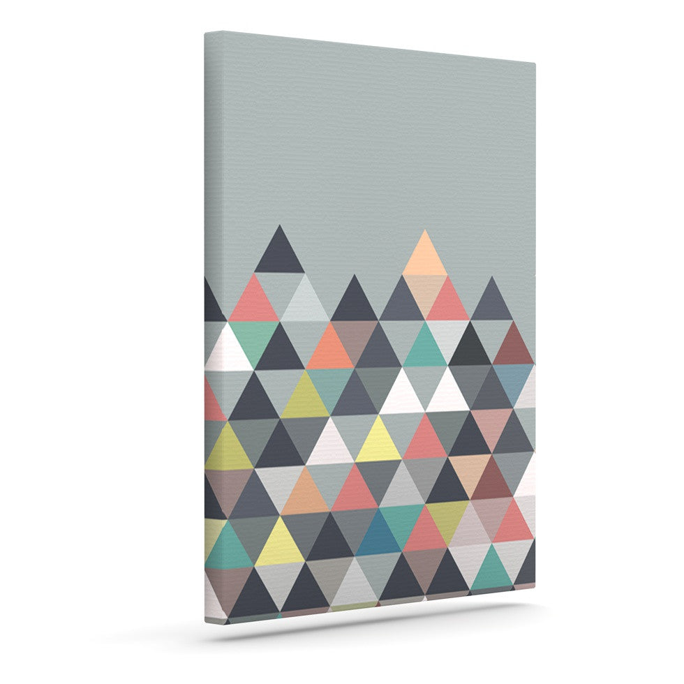 "Mareike Boehmer ""Nordic Combination"" Gray Abstract Outdoor Canvas Wall Art - KESS InHouse  - 1"