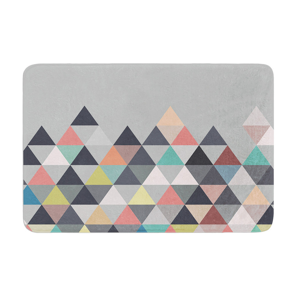 "Mareike Boehmer ""Nordic Combination"" Gray Abstract Memory Foam Bath Mat - KESS InHouse"