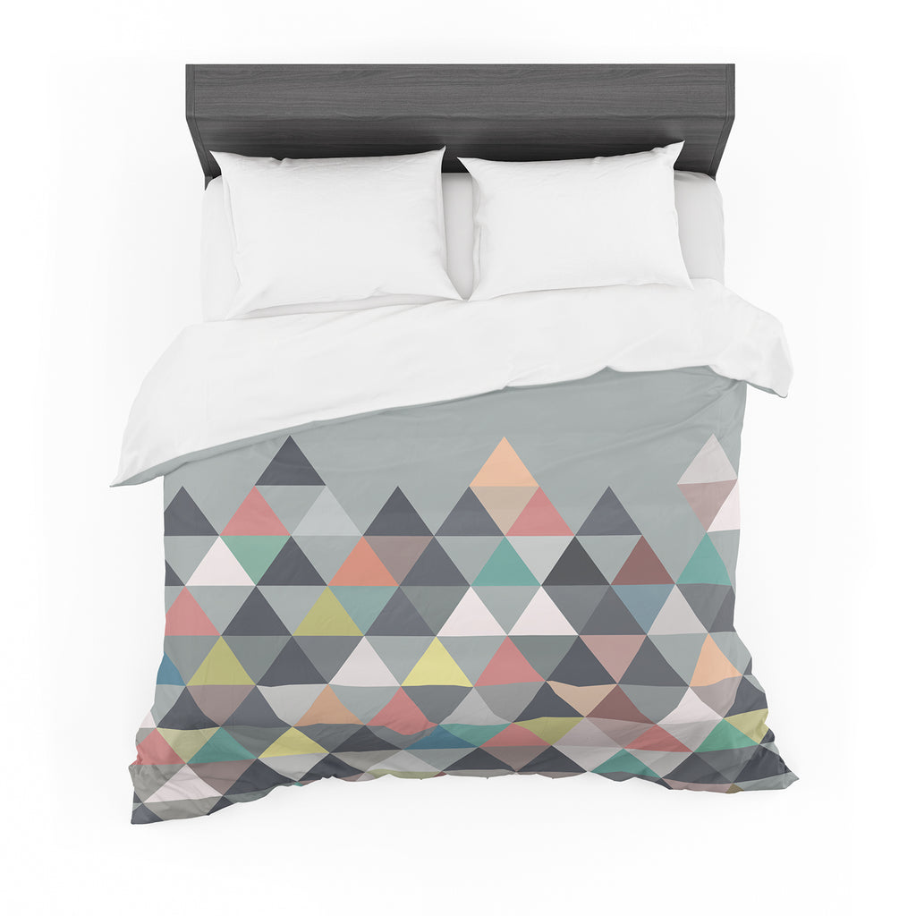"Mareike Boehmer ""Nordic Combination"" Gray Abstract Cotton Duvet"