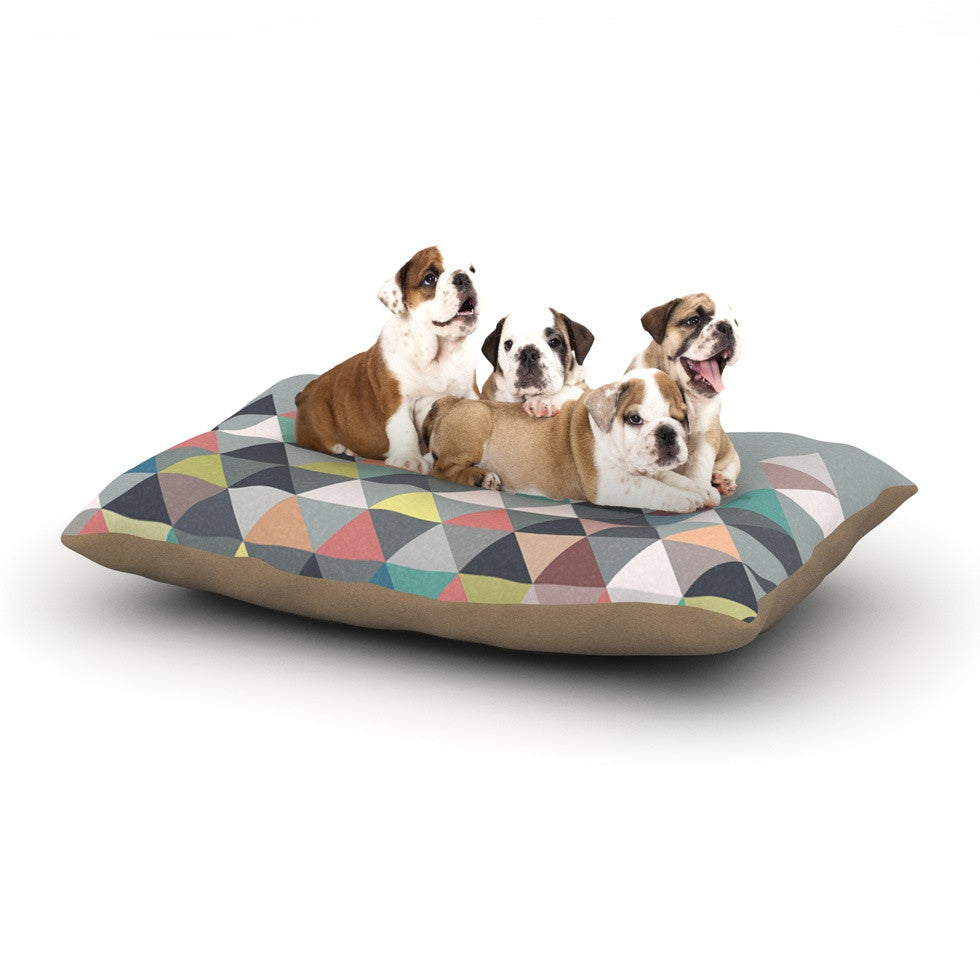 "Mareike Boehmer ""Nordic Combination"" Gray Abstract Dog Bed - KESS InHouse"