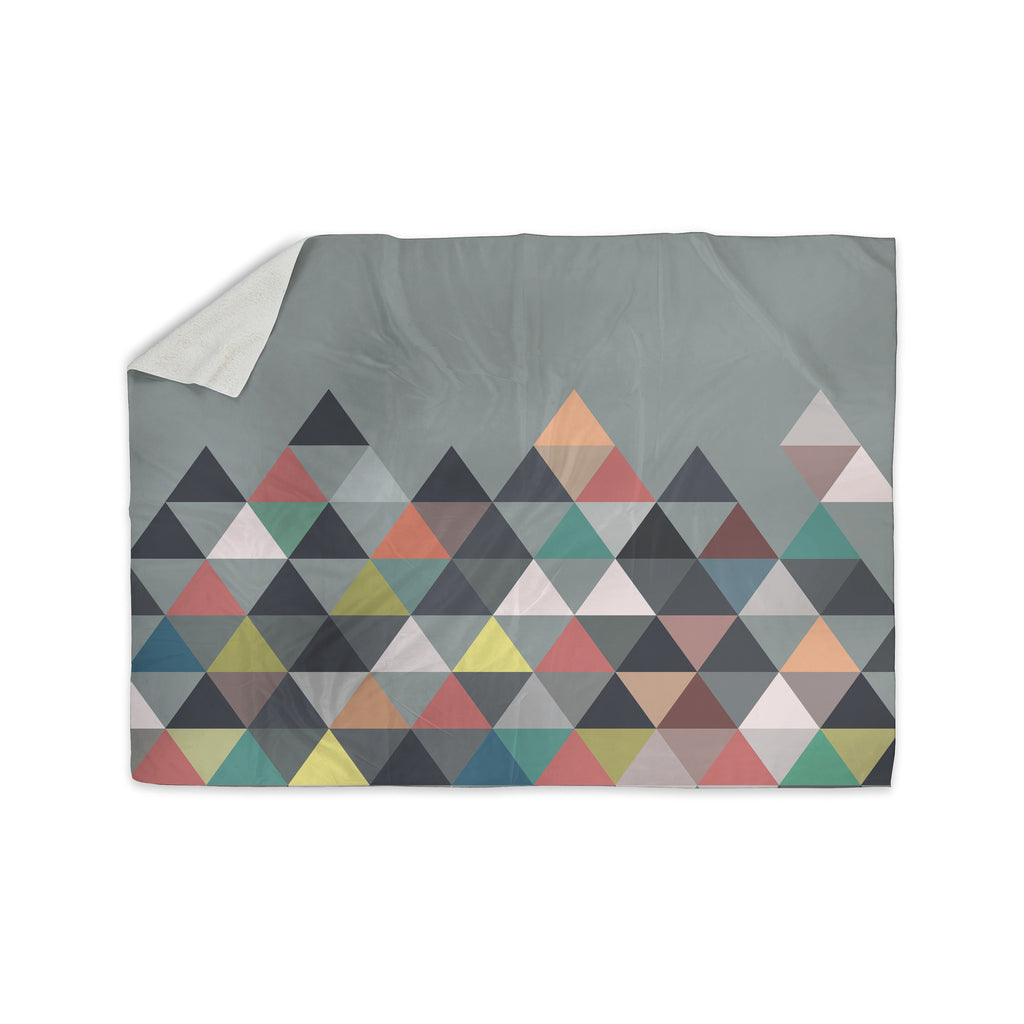 "Mareike Boehmer ""Nordic Combination"" Gray Abstract Sherpa Blanket - KESS InHouse  - 1"