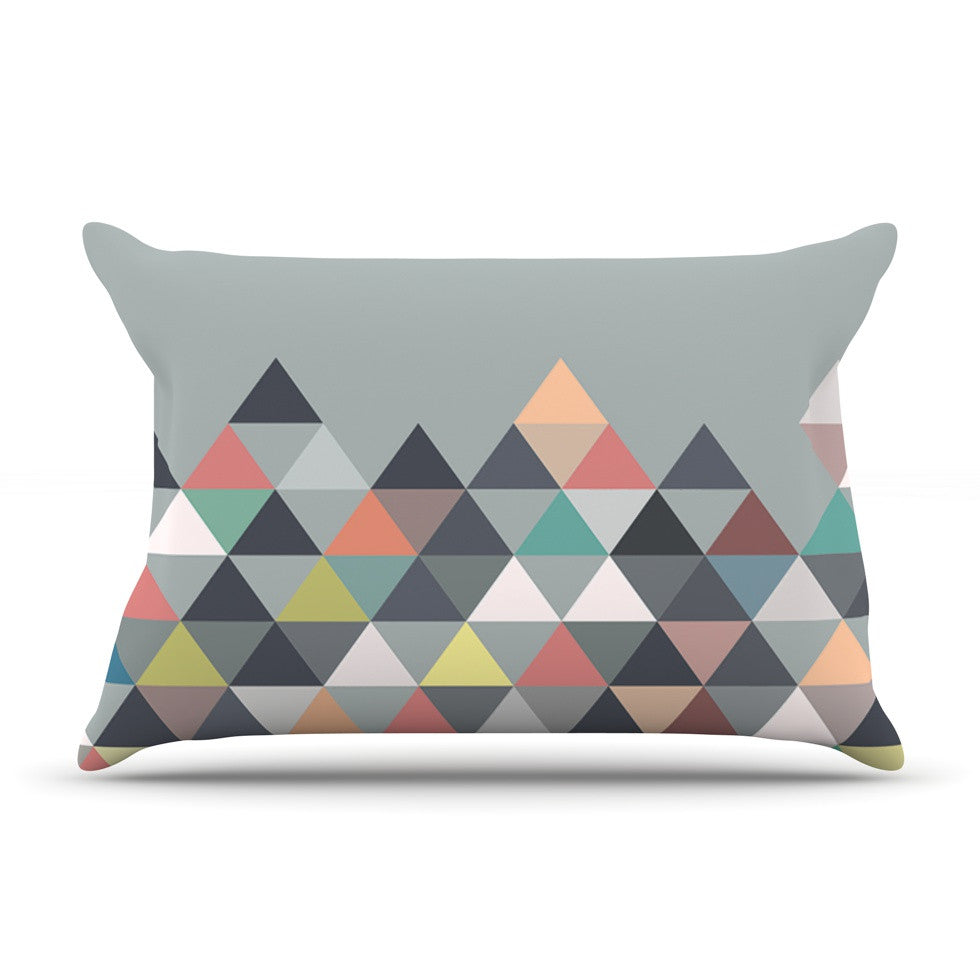 "Mareike Boehmer ""Nordic Combination"" Gray Abstract Pillow Sham - KESS InHouse"