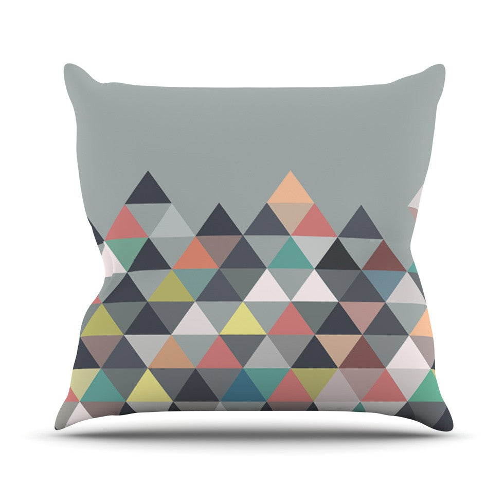 "Mareike Boehmer ""Nordic Combination"" Gray Abstract Throw Pillow - KESS InHouse  - 1"