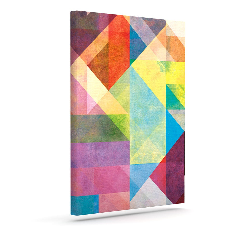 "Mareike Boehmer ""Color Blocking II"" Rainbow Abstract Outdoor Canvas Wall Art - KESS InHouse  - 1"