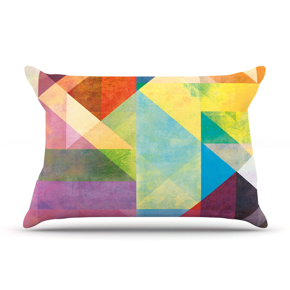 "Mareike Boehmer ""Color Blocking II"" Rainbow Abstract Pillow Sham - KESS InHouse"