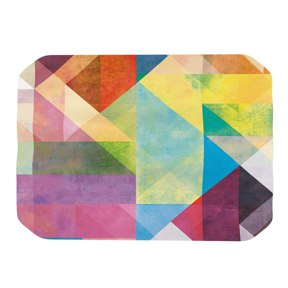 "Mareike Boehmer ""Color Blocking II"" Rainbow Abstract Place Mat - KESS InHouse"