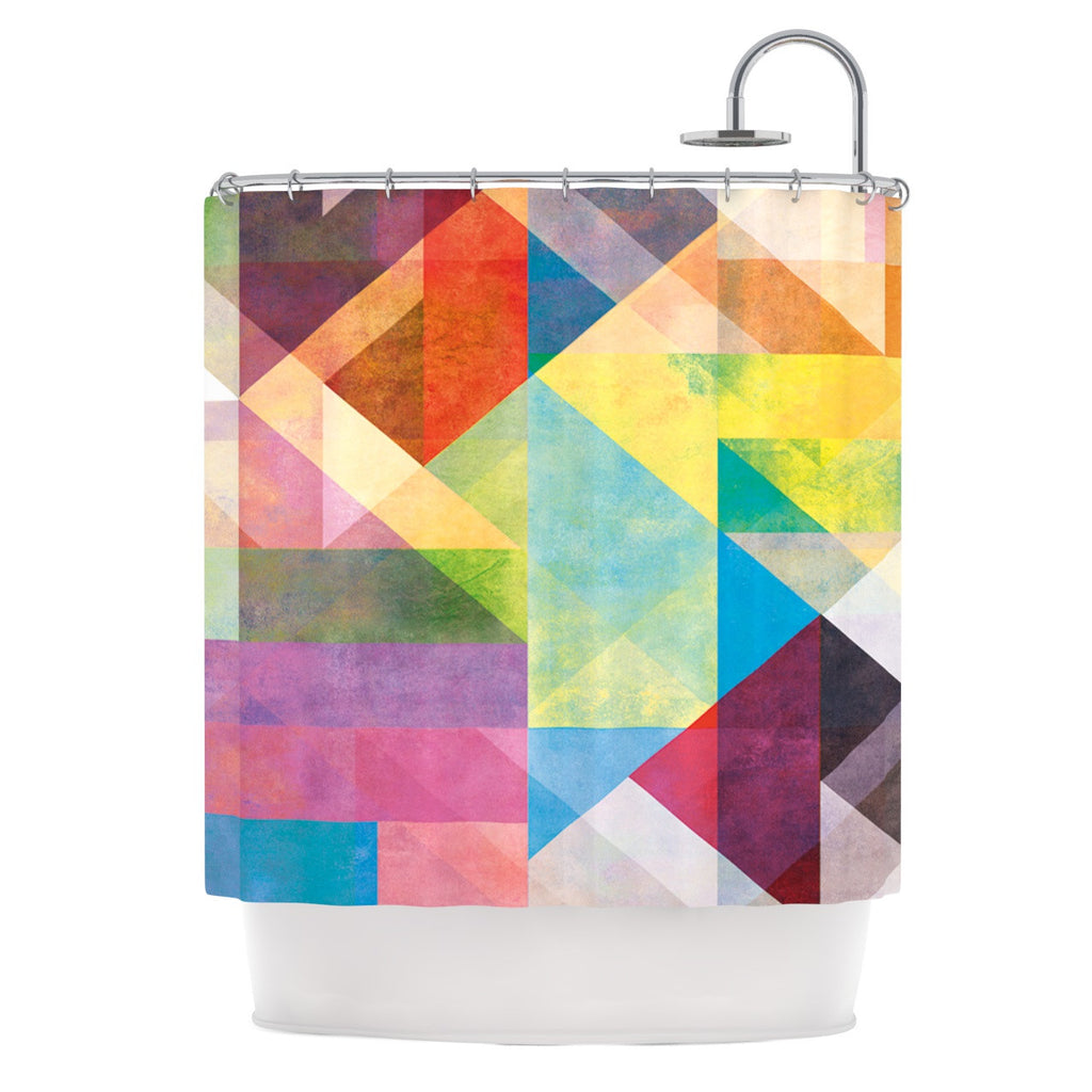 Abstract Shower Curtains