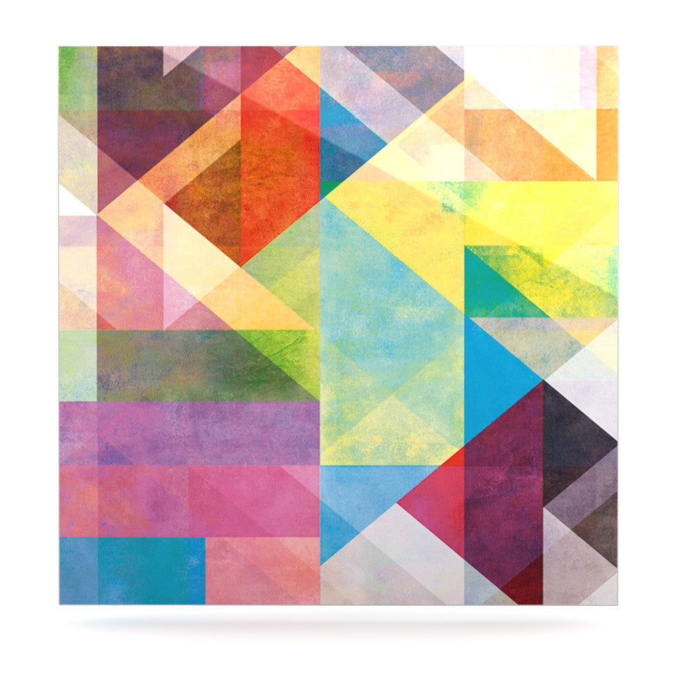 "Mareike Boehmer ""Color Blocking II"" Rainbow Abstract Luxe Square Panel - KESS InHouse  - 1"