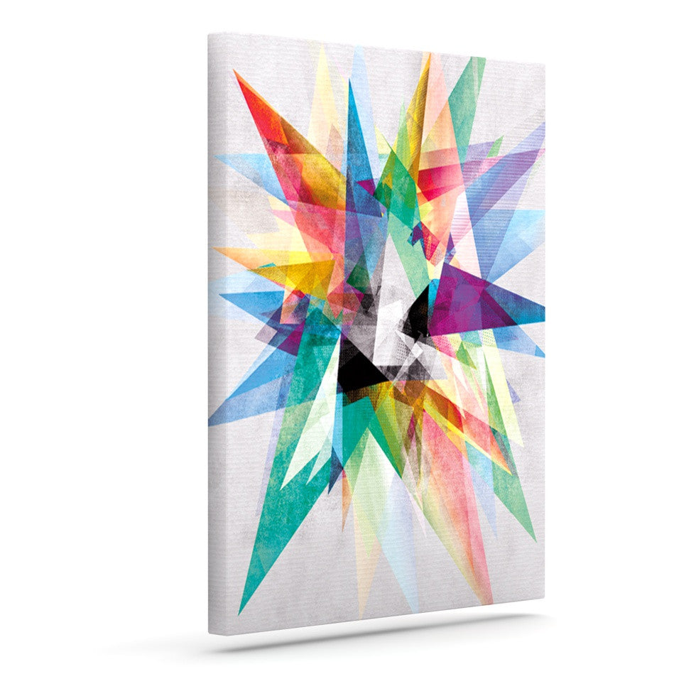 "Mareike Boehmer ""Colorful"" Rainbow Abstract Outdoor Canvas Wall Art - KESS InHouse  - 1"