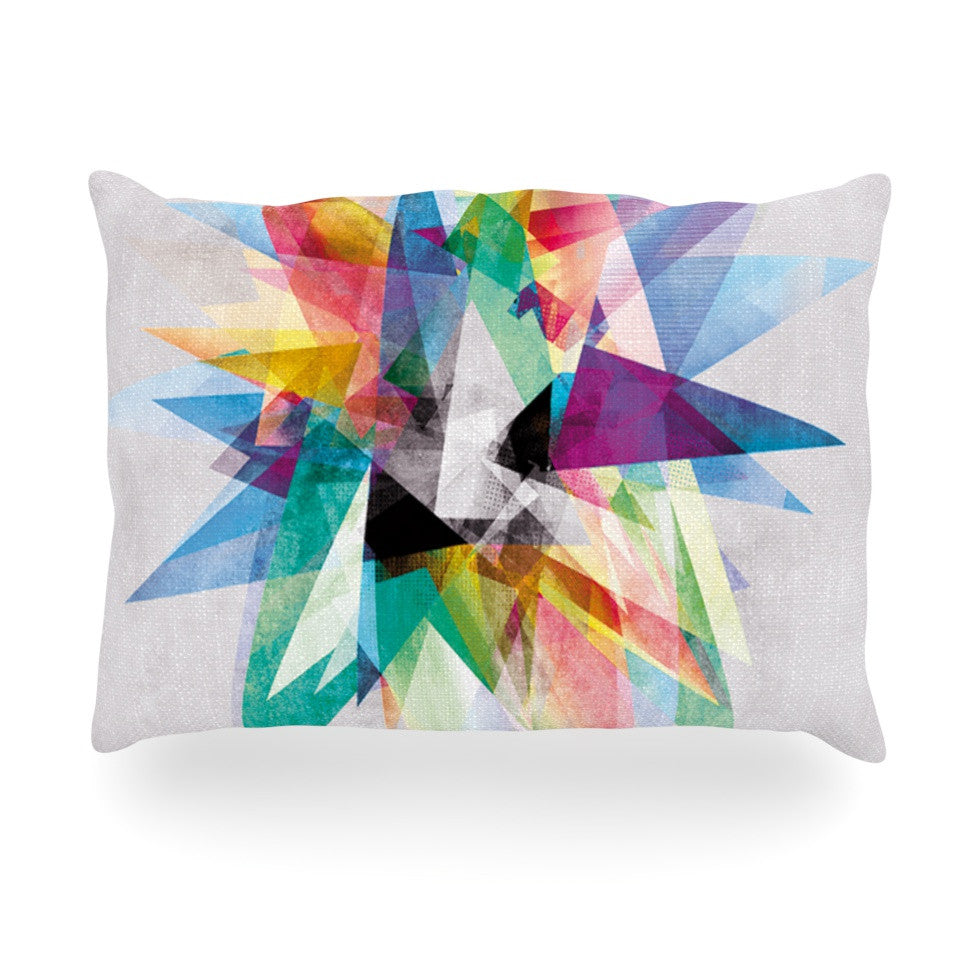 "Mareike Boehmer ""Colorful"" Rainbow Abstract Oblong Pillow - KESS InHouse"