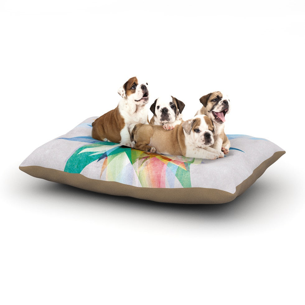 "Mareike Boehmer ""Colorful"" Rainbow Abstract Dog Bed - KESS InHouse  - 1"